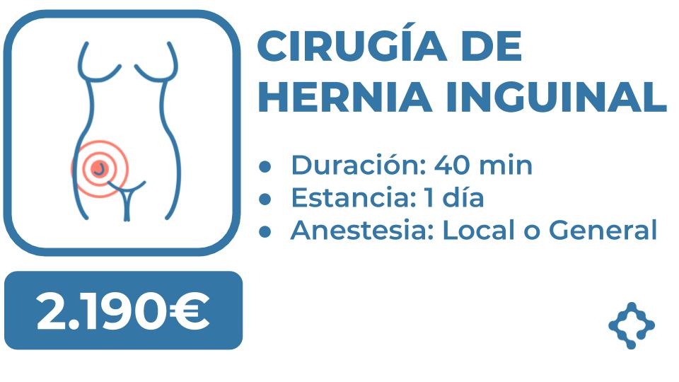 hernia inguinal precio